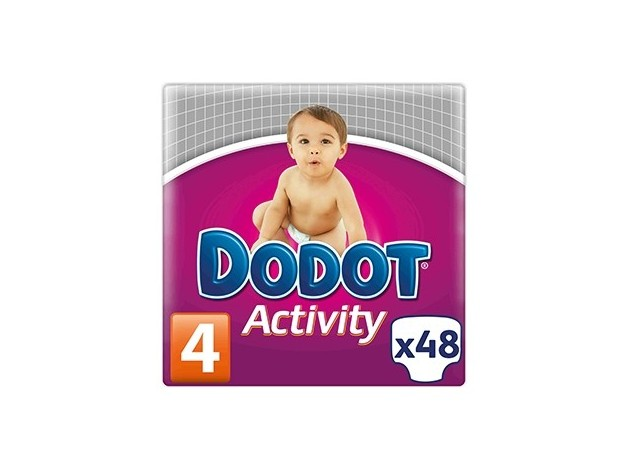 PAÑAL DODOT ACTIVITY T-4  8-14KG 48 UDS