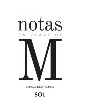 Mascarilla Marta Masi SOL para minimizar las imperfecciones